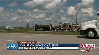 Highway 75 closed for hours after accident involving semi - Video