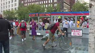 RAW: Riders host rally to demand funding for RTA - Video