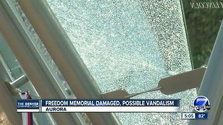 Police investigating possible vandalism at Colorado Freedom Memorial in Aurora - Video