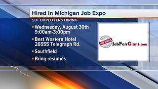 Dozens of employers hiring at Job Expo in Southfield on August 30, 2017 - Video
