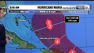 5:10 a.m. update: Hurricane Maria a Cat. 5 with 160 mph