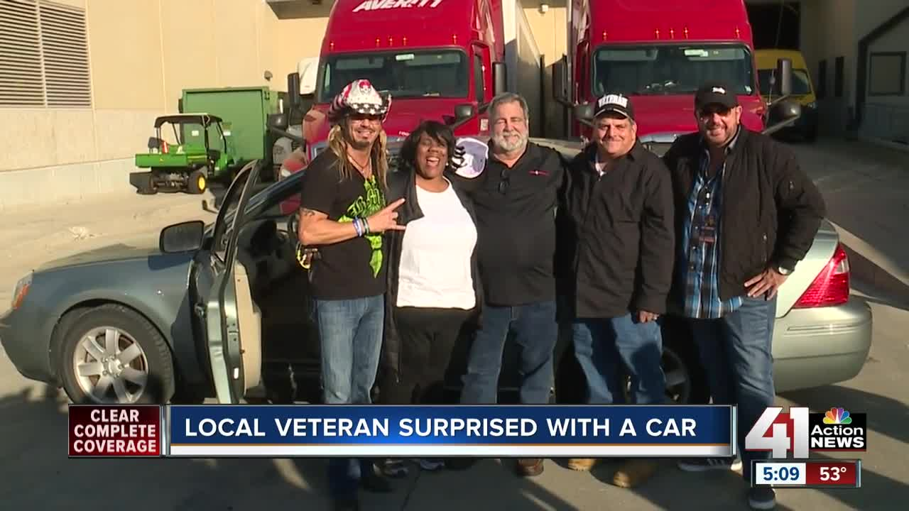 Local veteran surprised with a car