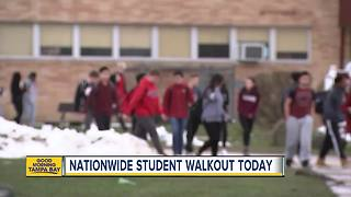 Local students taking part in national walkout - Video