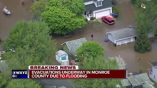 Massive flooding in Monroe County along shoreline - Video