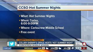 Collier County Sheriff's office hosts 'Hot Summer Nights' - Video