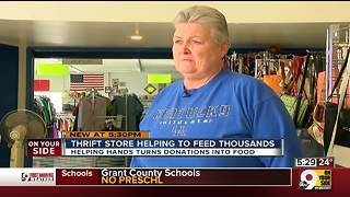 Thrift store helping to feed thousands - Video