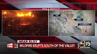 Wildfire breaks out south of the Valley - Video
