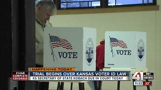 Trial over Kansas voter ID law could have impacts nationwide - Video