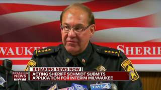 Acting Sheriff Schmidt submits application for the job - Video