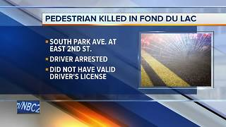 Pedestrian killed in Fond du Lac identified - Video