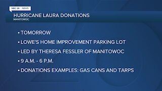 Wisconsin resident collecting relief donations for hurricane Laura