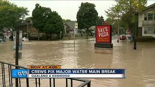 Water recedes after east side water main break