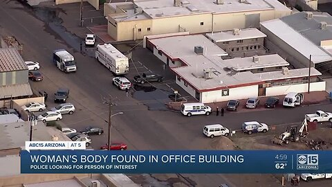Woman's body found inside office building in Phoenix