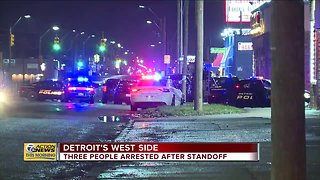 Three arrested after standoff in Detroit