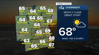 Comfortable evening expected Friday