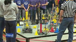 Students compete in robotics competition - Video