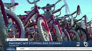 Pandemic not stopping bike giveaway