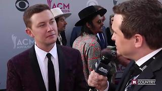 Catching up with Scotty McCreery at the 2017 ACMs | Rare Country - Video