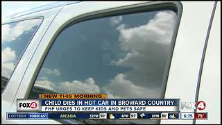 FHP urges parents to never leave a child or pet inside a hot car - Video