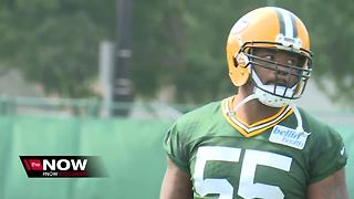 Chris Odom and Ahmad Brooks practice for first time as Packers - Video