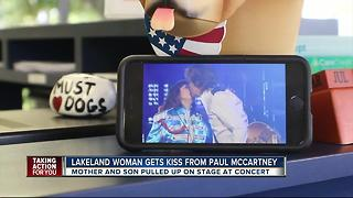 Lakeland woman gets kiss from Paul McCartney - Video