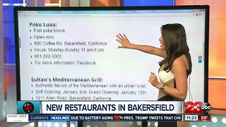 New Restaurants Opening in Bakersfield
