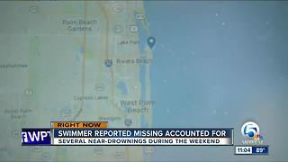 Report of missing swimmer near Lantana was false alarm - Video