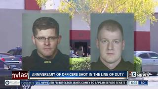 Anniversary of officers shot in the line of duty - Video