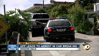 App leads to car break-in arrest - Video