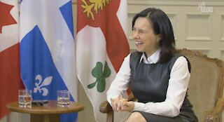 Valérie Plante on the Montreal Pink Line