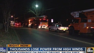 Power outages due to high winds reported in Maryland - Video
