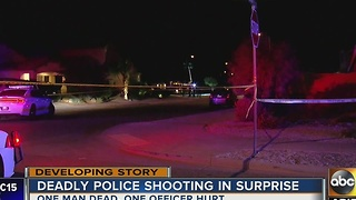 LATEST: Man dead after officer-involved shooting in Surprise - Video