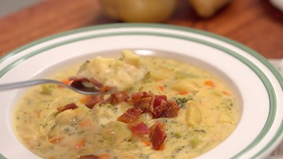 Loaded Broccoli Potato Cheddar Soup - Video