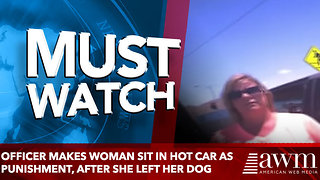 Officer Makes Woman Sit In Hot Car As Punishment, After She Left Her Dog - Video