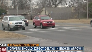 Broken Arrow road project begins and it will cause delays - Video