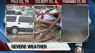 Tornados rip through cities across country - Video