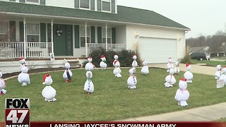 Snowman Army raises money for Lansing Jaycee's - Video