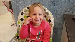 Naughty Baby Defies Daddy and Laughs in His Face  - Video