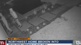 Northwest Las Vegas home break-in caught on camera - Video