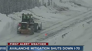 Avalanche control work closes multiple passes, highways in Colorado - Video