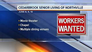 Workers Wanted: Cedarbrook Senior Living of Northville