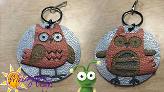 Faux Leather Owl Key Chain - Video