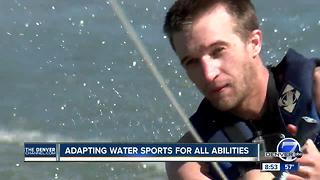 Adaptive water sports program helps athletes water ski, wakeboard - Video