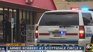 Knife-wielding man robs Scottsdale Circle K - Video
