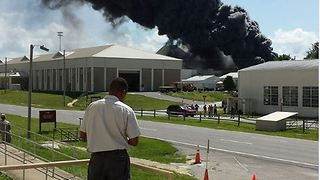 Explosion at Eglan Air Force Base Lab Triggers Evacuations - Video