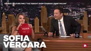 Jimmy Fallon Sucks In Helium With Some Of Hollywood's Finest - Video
