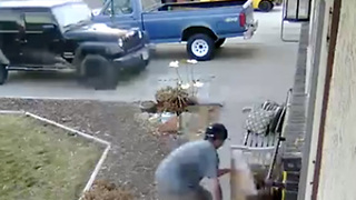 Porch pirate caught in Pueblo County - Video