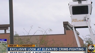 Peoria PD set up sky towers to monitor stores during holiday season - Video