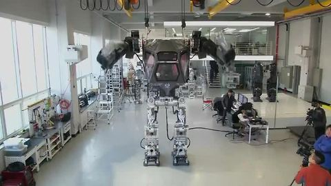 Supersized humanoid robot is unveiled in South Korea