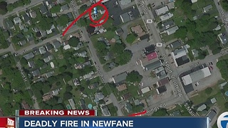 Deadly fire in Newfane closes roads - Video